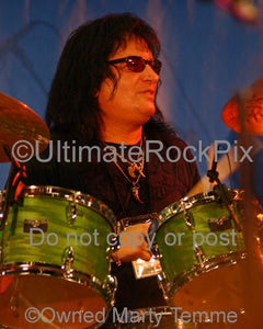 Photos of Drummer Bobby Rondinelli of Rainbow in Concert by Marty Temme