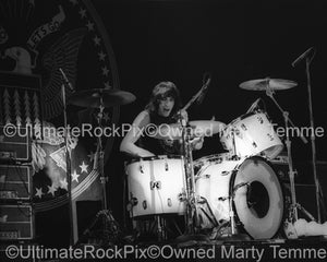 Photo of Marky Ramone of The Ramones in concert in 1979 by Marty Temme