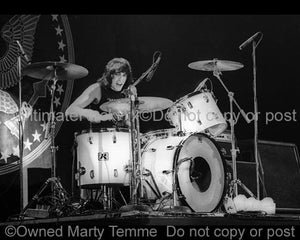 Photos of Drummer Marky Ramone of The Ramones in Concert in 1979 by Marty Temme