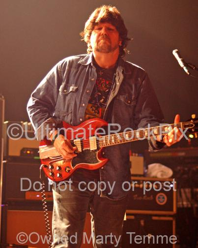 Photos of Guitar Player Mark Karan of RatDog Playing a Gibson SG in Concert by Marty Temme