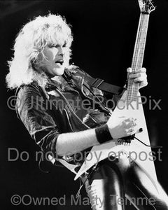 Black and White Photos of Guitar Player Robbin Crosby of Ratt in 1988 by Marty Temme