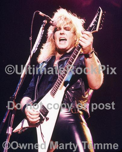 Photos of Guitar Player Robbin Crosby of Ratt in Concert by Marty Temme