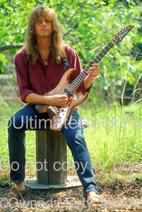 Photo of Reb Beach of Winger during a photo shoot in 1993 by Marty Temme