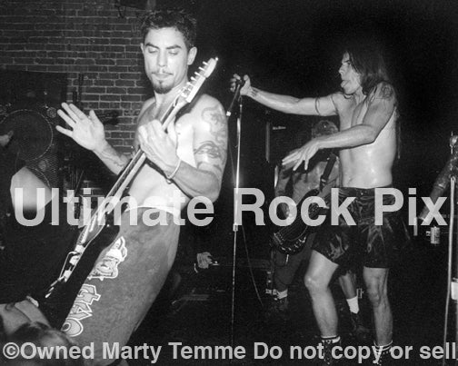 Photo of Dave Navarro and Anthony Kiedis of The Red Hot Chili Peppers in 1994 by Marty Temme