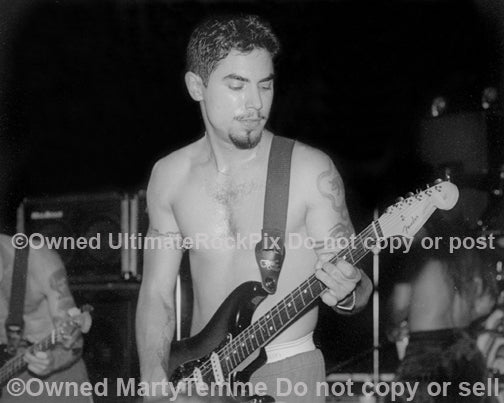 Black and white photo of Dave Navarro of The Red Hot Chili Peppers in 1994 by Marty Temme