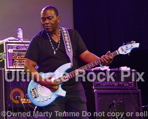 Photo of bass player Randy Jackson in 2012 by Marty Temme