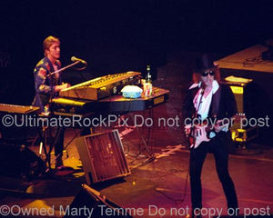 Photos of Mick Ronson and Ian Hunter Performing in Concert in 1981 by Marty Temme