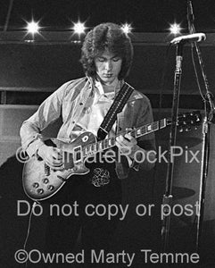 Photos of Mick Taylor of The Rolling Stones Playing a Gibson Les Paul in 1973 by Marty Temme