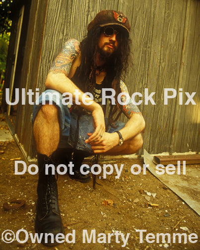 Photo of Rob Zombie of White Zombie during a photo shoot in 1993