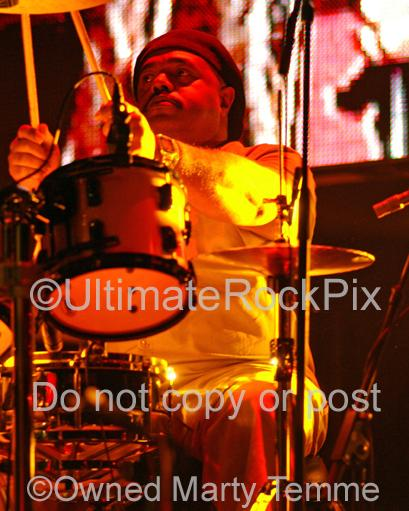 Photos of Drummer Dennis Chambers of Santana in Concert by Marty Temme
