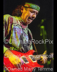 Photos of Carlos Santana of Santana in 1999 by Marty Temme