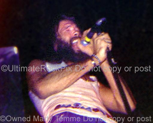 Photos of Vocalist Dave Walker of Savoy Brown, Black Sabbath and Fleetwood Mac in Concert in 1972 by Marty Temme