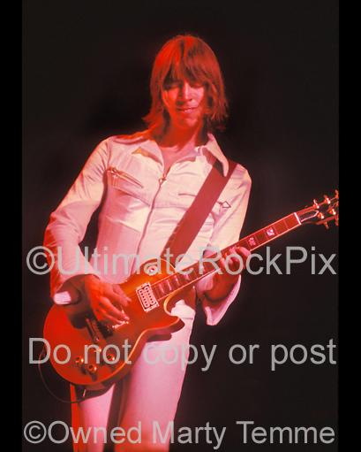 Photos of Tom Scholz of Boston Playing a Gibson Goldtop in Concert in 1978 by Marty Temme