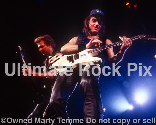 Photo of Rudolf Schenker and Matthias Jabs of Scorpions in 1991 by Marty Temme