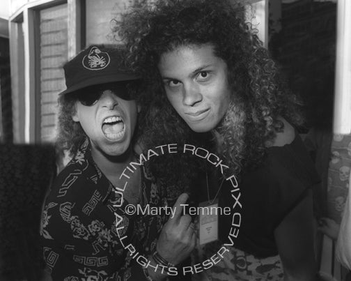 Photo of Jeff Scott Soto and Klaus Meine of Scorpions in 1991 by Marty Temme