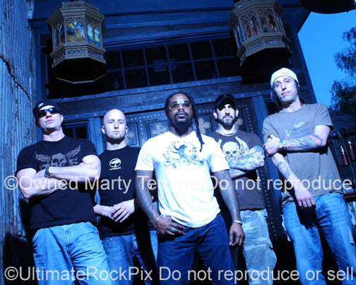 Photo of Sevendust during a photo shoot in 2007 by Marty Temme