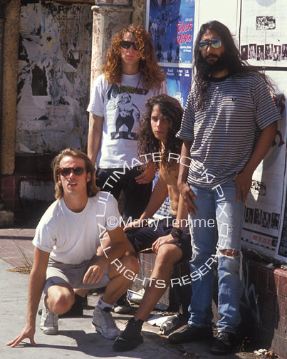 Photo of Soundgarden during a photo shoot in 1989 in Los Angeles, California by Marty Temme