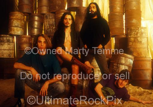 Photos of Soundgarden during a photo shoot in 1991 in Los Angeles, California by Marty Temme