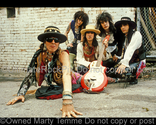 Photo of the band Shooting Gallery during a photo shoot in 1992 by Marty Temme