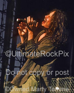 Photos of Singer Chris Cornell of Soundgarden in Concert in 1992 by Marty Temme