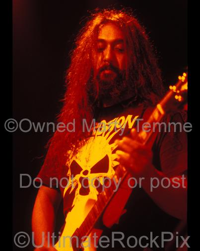Photos of Guitarist Kim Thayil of Soundgarden in Concert in 1991 by Marty Temme