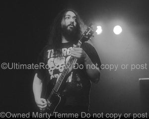 Black and White Photos of Kim Thayil Playing a Guild S-100 Guitar in Concert by Marty Temme
