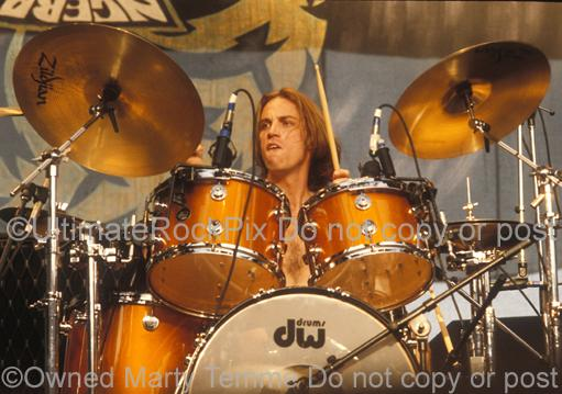 Photos of Drummer Matt Cameron of Soundgarden and Pearl Jam in Concert in 1991 by Marty Temme