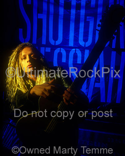 Photo of musician Tim Skold of Shotgun Messiah during a photo shoot in 1992 by Marty Temme
