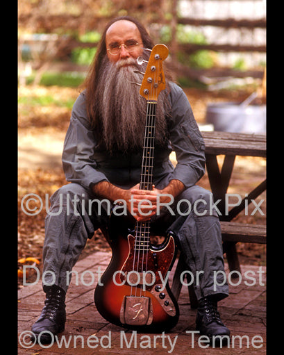 Photo of bass player Leland