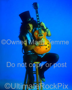 Art Print of Slash of Guns N' Roses during a photo shoot by Marty Temme
