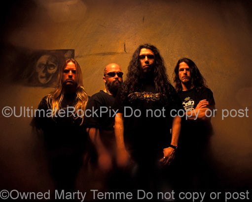 Art Print of Slayer during a photo shoot in 1998 by Marty Temme