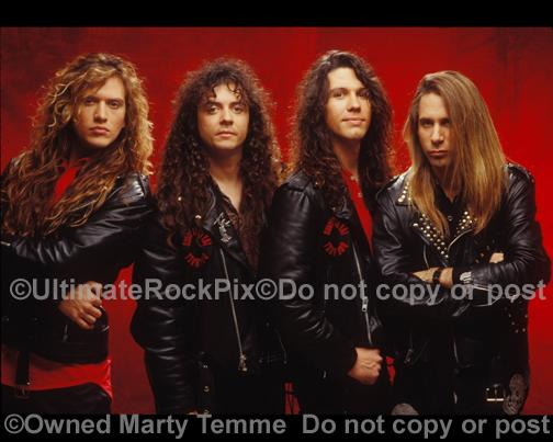 Photos of the Rock Band Slaughter During a Photo Shoot in Hollywood, California by Marty Temme
