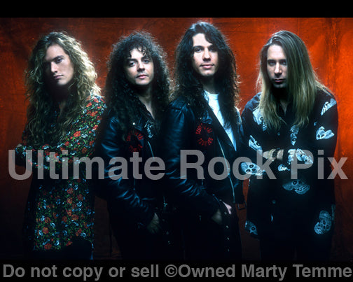 Photo of the rock band Slaughter during a photo shoot in 1990 in Hollywood, California by Marty Temme