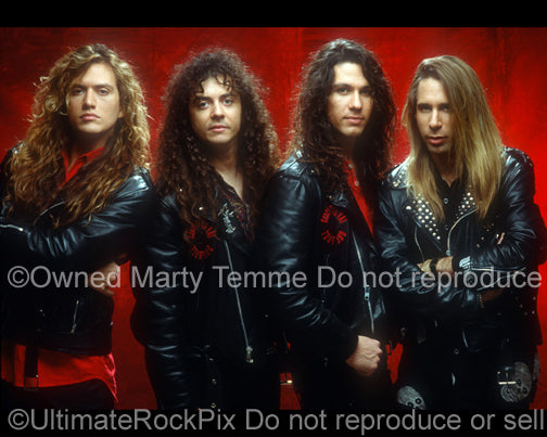 Photo of the band Slaughter during a photo shoot in 1991 in Hollywood, California by Marty Temme