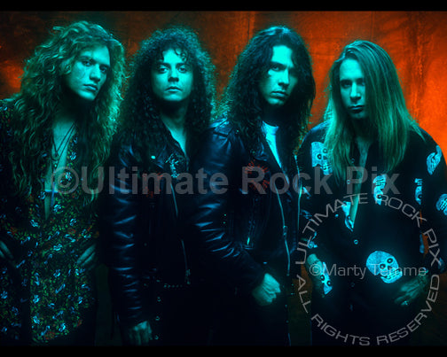 Art Print of the band Slaughter during a photo shoot in 1991 by Marty Temme