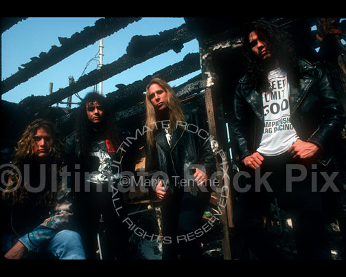 Photo of the band Slaughter during a photo shoot in 1992 by Marty Temme