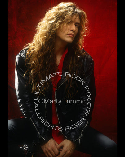 Photo of Blas Elias of Slaughter during a photo session in 1990 by Marty Temme