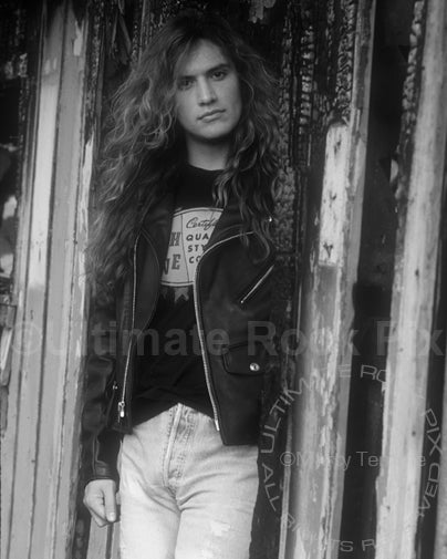 Black and white photo of musician Blas Elias during a photo shoot in 1992 by Marty Temme