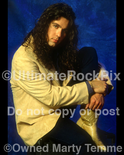 Photo of singer Mark Slaughter of Slaughter during a photo shoot in 1992 in Los Angeles, California by Marty Temme