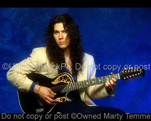 Photo of Mark Slaughter of Slaughter during a photo shoot in 1992 in Los Angeles, California by Marty Temme