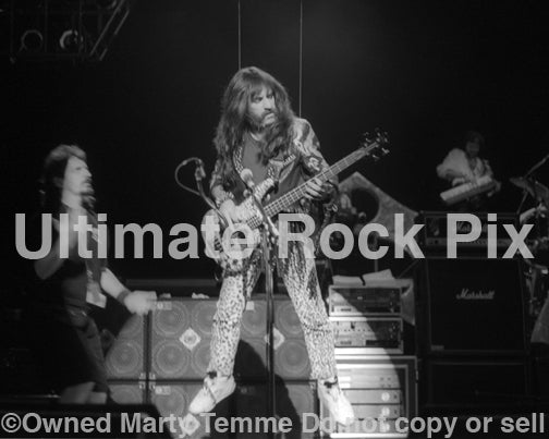 Photo of Derek Smalls in concert with Spinal Tap in 1992 by Marty Temme