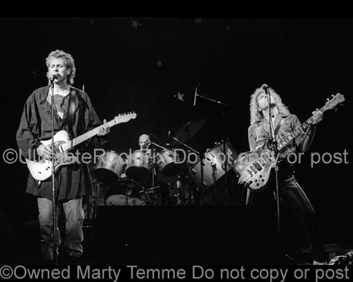 Photos of Mark Andes and Jay Ferguson of Spirit in Concert in 1985 by Marty Temme