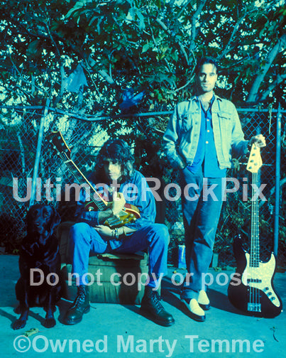 Photo of Dean and Robert DeLeo of Stone Temple Pilots during a photo shoot by Marty Temme