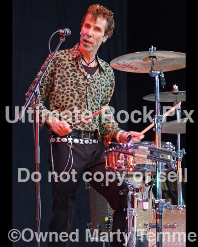 Photos of Drummer Slim Jim Phantom of The Stray Cats by Marty Temme