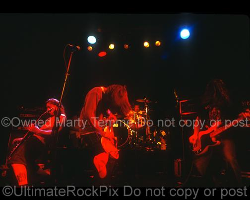 Photos of Drummer Joey Castillo Performing with Sugartooth in 1994 by Marty Temme
