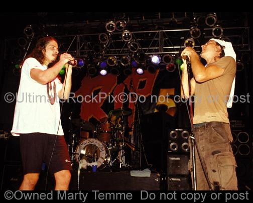 Photos of Chris Cornell and Eddie Vedder of Temple of the Dog Onstage in 1991 by Marty Temme