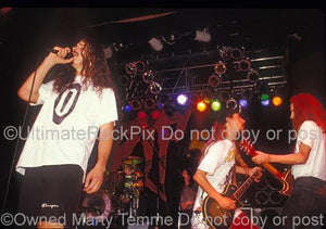 Photos of Chris Cornell, Jerry Cantrell and Stone Gossard of Temple of the Dog in Concert in 1991 by Marty Temme