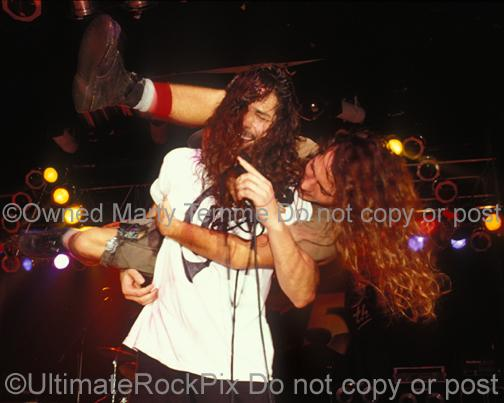Photos of Chris Cornell and Eddie Vedder of Temple of the Dog in Concert in 1991 by Marty Temme