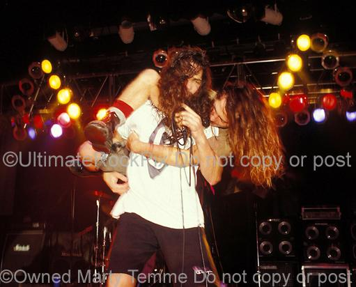 Photos of Chris Cornell and Eddie Vedder of Temple of the Dog Performing in Concert in 1991 by Marty Temme