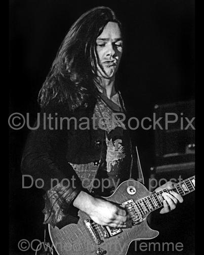 Photos of Gary Moore of Thin Lizzy in Concert in 1977 by Marty Temme